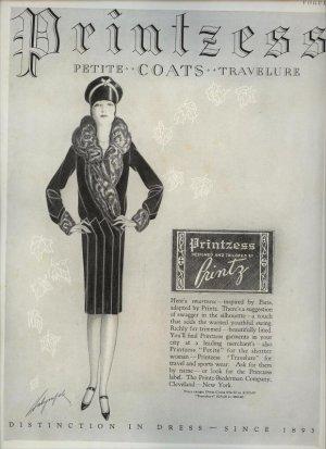 Vintage 1927 Printzess Petite Coats Art AD