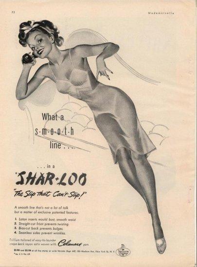 Vintage 1944 Shar * Loo Lingerie AD