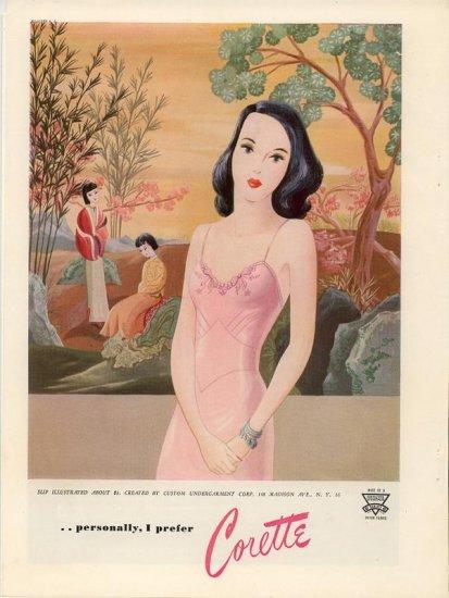 Vintage 1945 Corette Slip Lingerie  Artist AD