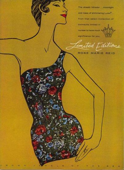 Vintage 1960 Rose Marie Reid Swim suit Mirador AD
