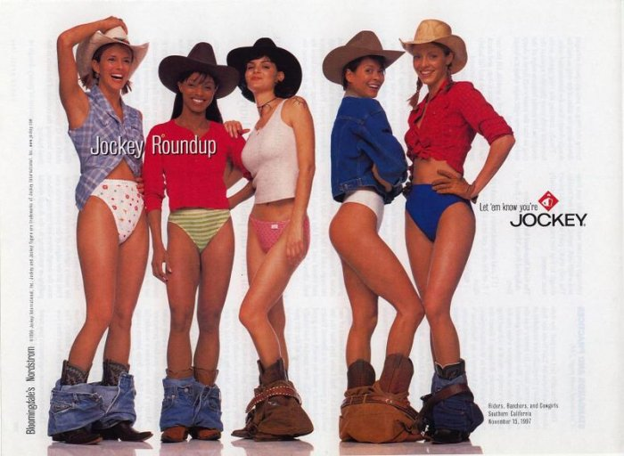 1998 Jockey Roundup Cowgirls Underwear AD