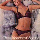 1985 Maidenform Sexy Woman Bra & Panties AD