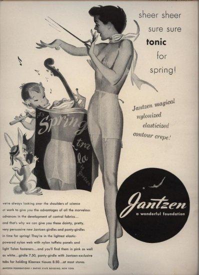 Vintage 1950 Jantzen Lingerie Spring Rabbit AD