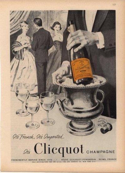 Vintage Advertising 1959 Veuve Clicquot Ponsardin Champagne vintage ad