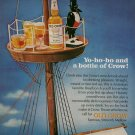 Vintage Advertising 1966 Old Crow Whiskey Crow in the Crow's Nest Whisky  AD