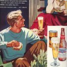 Vintage 1949 Budweiser Beer Art by Cassell Christmas Print AD