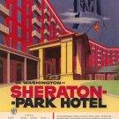 Vintage 1954 Washington Sheraton Park Hotel AD