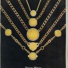 Vintage 1975 David Webb Jewelry Gold Chains Print AD