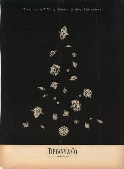 Vintage 1960 Tiffany Diamond Christmas Tree AD