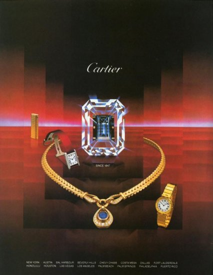 1984 Cartier Jewelry Watch AD