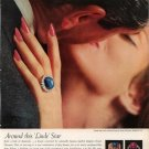 Vintage 1960 Linde Star & Diamond Ring Oscar Heyman AD