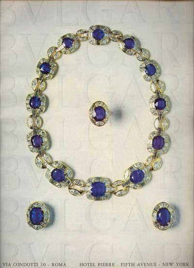 Vintage 1975  BVLGAR  Jewelry Print AD
