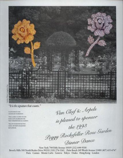 1993 Van Cleef & Arpels Floral Jewelry AD