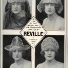 Vintage 1923 Headdresses Created by Reville London Women Hat AD