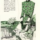 Vintage 1943 Lady in Green Marlboro Cigarette Bolegard Art AD