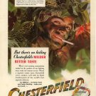 Vintage 1943 U.S. Rangers Camouflage Chesterfield Cigarette AD
