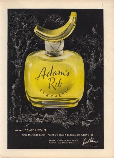 Vintage 1954 Lentheric Adam's Rib Perfume Ad