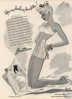 1944 Jantzen Bra Girdle Darling Daughter Hurst Art AD