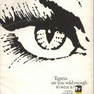 Vintage 1969 Faberge' Tigress Perfume Print AD