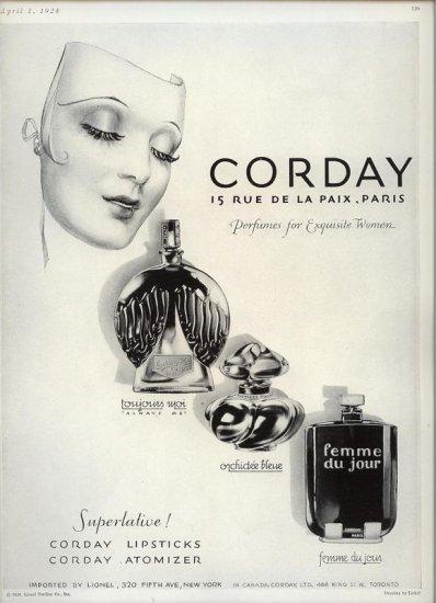 Vintage 1928 Corday Perfume Parfum Art by Lederi AD