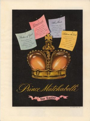 Vintage 1945 Prince Matchabellie For Easter Perfume AD