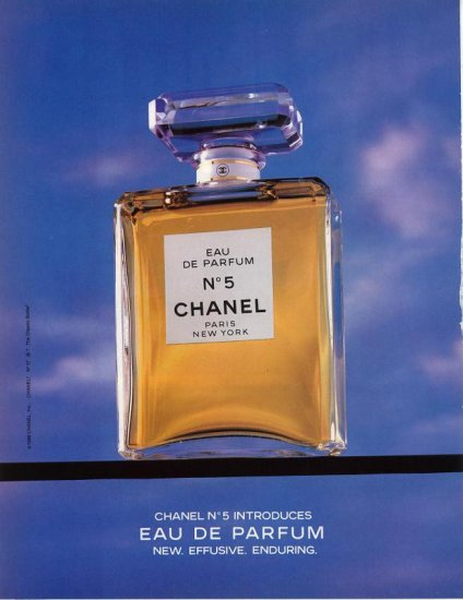 1986 Classic Bottle Color Chanel No 5 AD