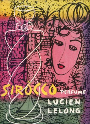 Vintage 1945 Sirocco Perfume by Lucien Lelong Crazy Art AD