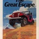 Vintage 1974 Jeep CJ-5 AMC Renegade Car AD