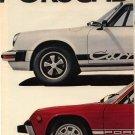 Vintage 1974 Porsche Sports Car 1973 2 page AD