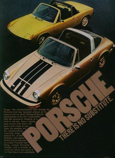 Vintage 1974 Porsche Sports Car AD