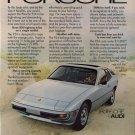 Vintage 1978 White Porsche 924 Car Print AD