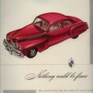 Vintage 1946 Red Lincoln Car Ford Company AD