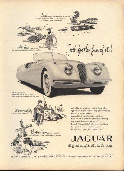 Original Vintage 1954 Jaguar Sports Convertible Ad