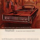 Vintage 1964 for a 65 Red Ford  Mercury Car AD