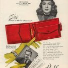 Vintage 1948 Betty Hutton Rolf's Red Directress Bilfold AD