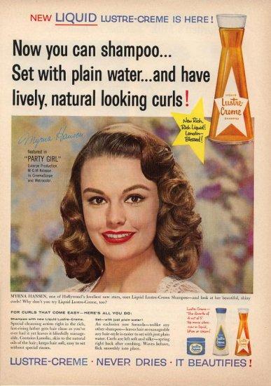 1958 Myrna Hansen Party Girl Lustre Creme Shampoo AD