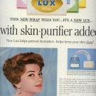 Vintage 1960 Anne Baxter Lux Bath Soap AD