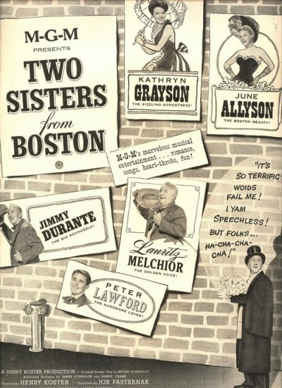 Vintage 1946 Two Sisters from Boston Movie Promo AD