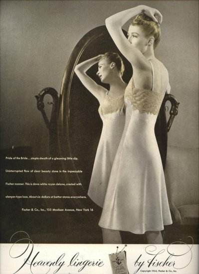 Vintage 1944 Fischer Lingerie Slip Real Photo AD