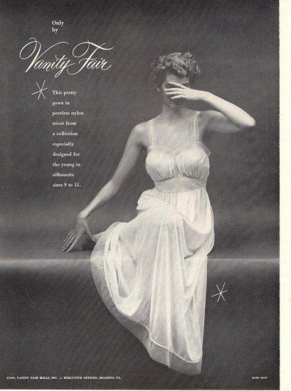 Vintage 1950 Vanity Fair Lingerie AD