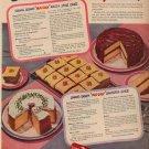 Vintage 1947 Swan's Down Cake Flour Daffodil & Raisin Spice Recipe AD