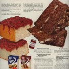 Vintage 1950 Swans Down Cake Mix Recipe Rocky Road Cake Recipe AD