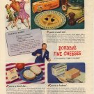 Vintage 1946 Borden's Chateau Cheese Rabbit Recipe AD