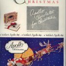 Vintage 1927 Apollo Chocolates Chirtmas Santa Claus AD