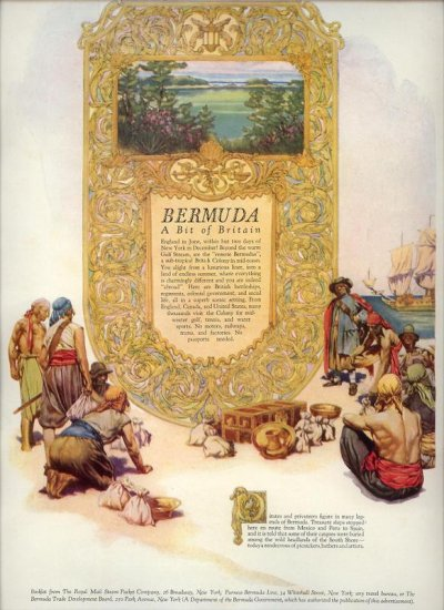 Vintage 1927 Bermuda Travel AD