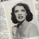 Vintage 1943 Anne Brown Soprano Opera Promo AD