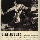 Vintage 1943 Piatigorsky Opera Promo AD