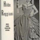 Vintage 1945 Hilde Reggiani Opera Promo AD