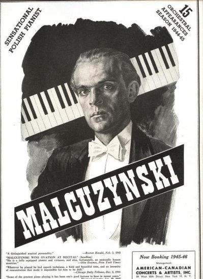 Vintage 1945 Malcuzynski Opera Promo AD