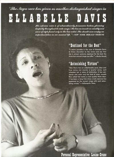 Vintage 1945 Ellabelle Davis Opera Promo AD